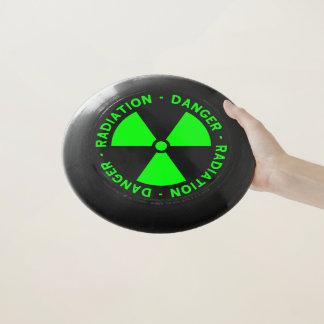 Frisbee De Wham-O Señal de peligro verde de la radiación