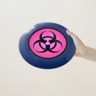 Frisbee De Wham-O Símbolo rosado del Biohazard
