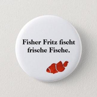 Frische Fische. del fischt de Fisher Fritz Chapa Redonda De 5 Cm