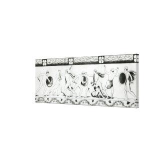 Friso en el pilar del del de Grotta Impresión En Lienzo Estirada