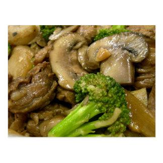 Fritada del stir de la carne de vaca, del bróculi postal