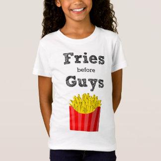 Fritadas antes de la camiseta adolescente de los