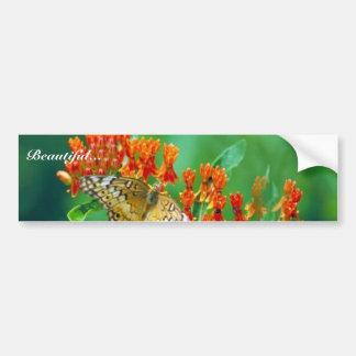 Fritillary de Varigated en mala hierba de mariposa Pegatina Para Coche