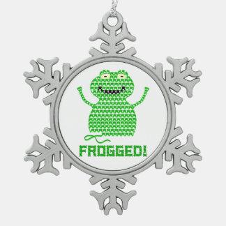 ¡Frogged! Rana del ganchillo del vector Adorno