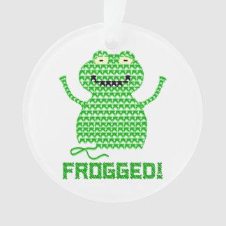 ¡Frogged! Rana del ganchillo del vector
