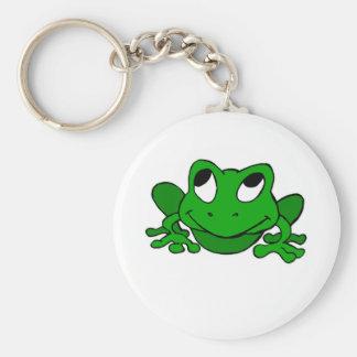 Froggie verde lindo llavero redondo tipo chapa