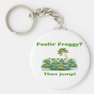 froggy del feelin llavero redondo tipo chapa