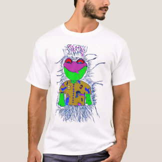 Frogshirtpinktxt Camiseta