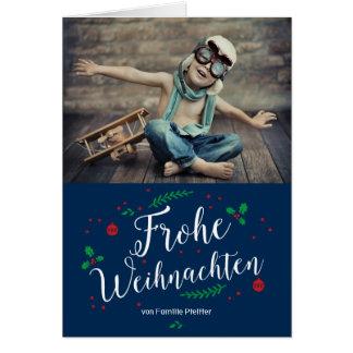 Frohe Mistel Urlaub Foto-Gruß Tarjeta De Felicitación