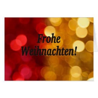 ¡Frohe Weihnachten! Felices Navidad en el FB Tarjeta