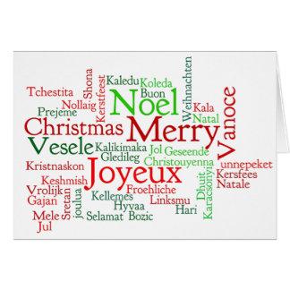 ¡Frohe Weihnachten! Felices Navidad en el FB Tarjeta De Felicitación