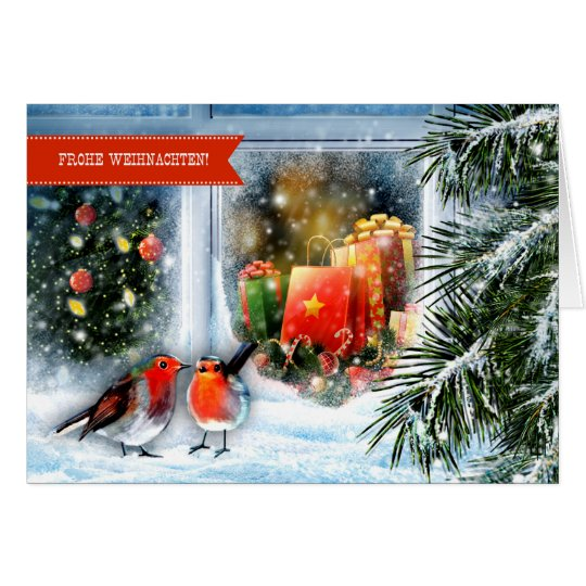 Frohe Weihnachten. Tarjeta de felicitación alemana