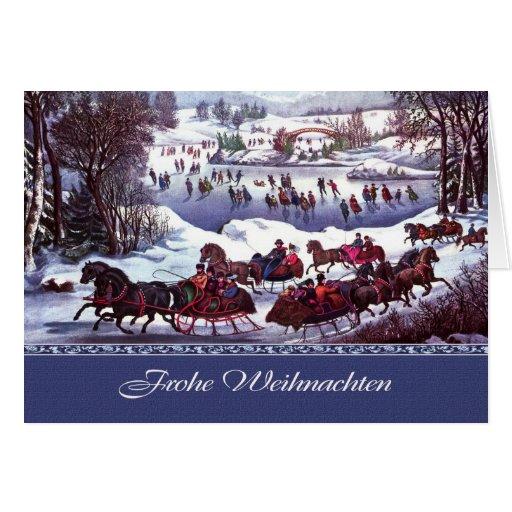 Frohe Weihnachten. Tarjetas de Navidad alemanas