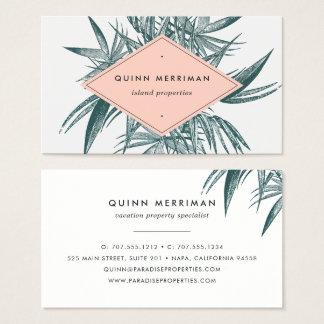 Fronda tropical de la palma tarjeta de visita