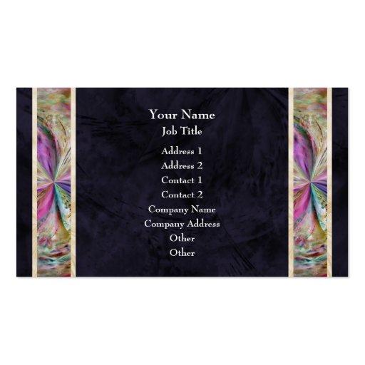 Frontera abstracta colorida de la cinta del collag tarjetas de negocios