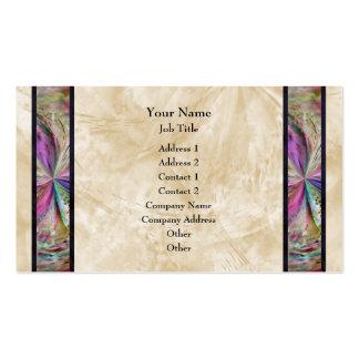 Frontera abstracta colorida de la cinta del collag tarjetas personales