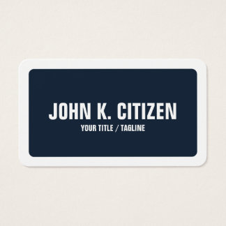 Frontera ancha redondeada del texto intrépido azul tarjeta de visita