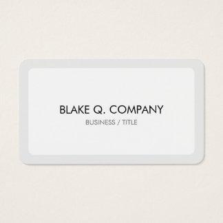 Frontera blanca y gris clara redondeada mínima tarjeta de visita