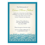 Frontera de la fan de la voluta (trullo) invitaciones personalizada