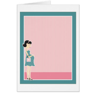 Frontera de la mujer embarazada tarjeta