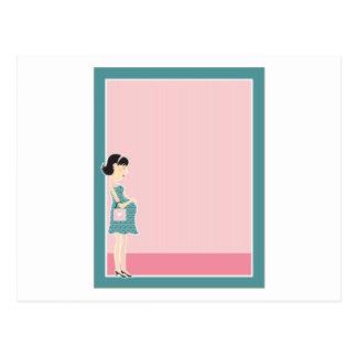 Frontera de la mujer embarazada postal