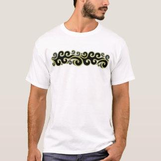 Frontera de la ola oceánica camiseta