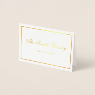 Frontera de la tarjeta del lugar del boda