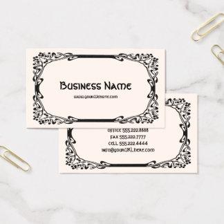 Frontera decorativa negra elegante retra de tarjeta de negocios