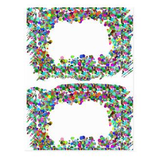 Frontera decorativa - opción de la plantilla para  tarjeta postal