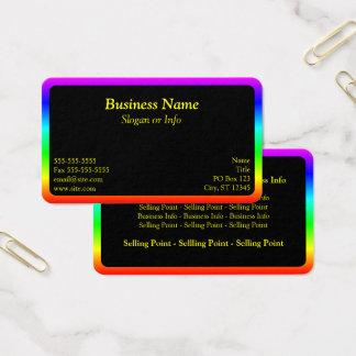 Frontera del arco iris tarjeta de visita