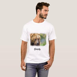 Frontera del blanco del oso grizzly camiseta