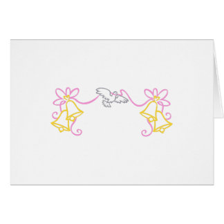 Frontera del boda tarjeta de felicitación