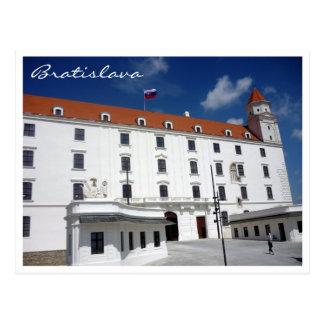 frontera del cielo del castillo de Bratislava Postal