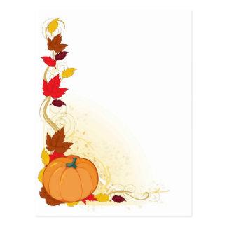Frontera del otoño de la calabaza postal