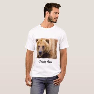 Frontera grande del blanco del oso grizzly camiseta