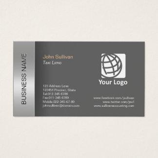 Frontera gris elegante de la tarjeta de visita de