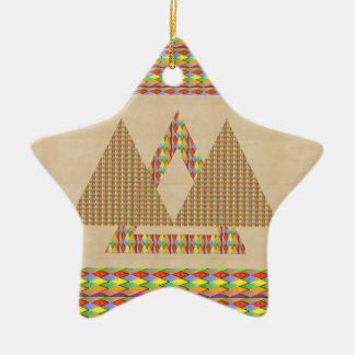 Frontera histórica de la energía del triángulo de ornaments para arbol de navidad
