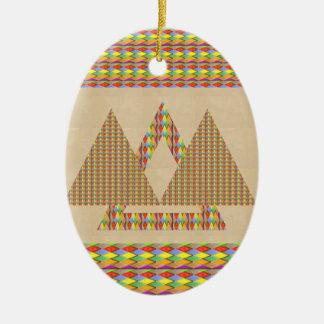 Frontera histórica de la energía del triángulo de ornamento para arbol de navidad