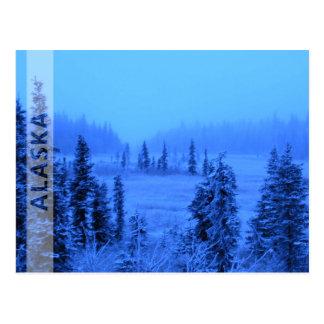 Frontera para su foto de Alaska de las vacaciones Postal