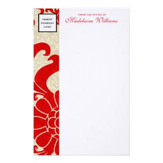 Frontera roja de rubíes con el logotipo del papelería