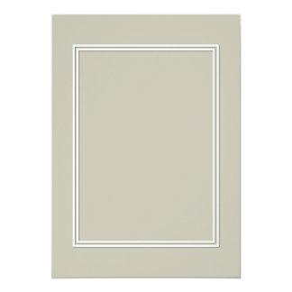 Frontera sombreada blanca doble en el musgo de invitación 12,7 x 17,8 cm