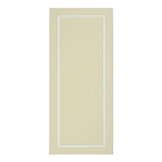 Frontera sombreada blanca doble en verde de musgo invitación 10,1 x 23,5 cm