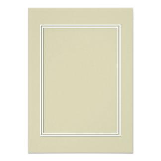 Frontera sombreada blanca doble en verde de musgo invitación 11,4 x 15,8 cm
