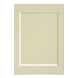Frontera sombreada blanca doble en verde de musgo invitación 8,9 x 12,7 cm