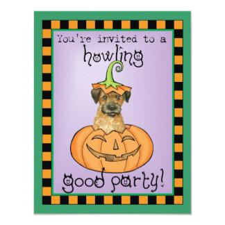 Frontera Terrier de Halloween Invitación 10,8 X 13,9 Cm