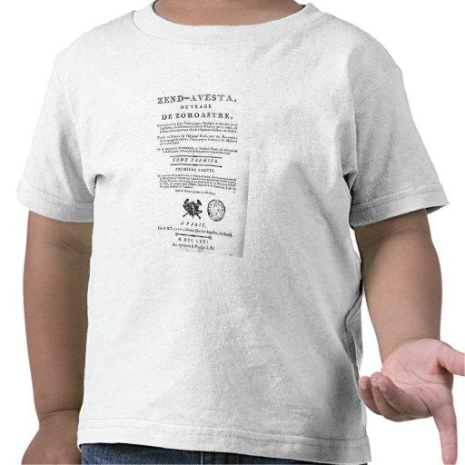 Frontispiece de una edición de 'Zend Camiseta