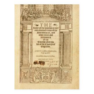 Frontispiece 'del libro de Prayer común Postal