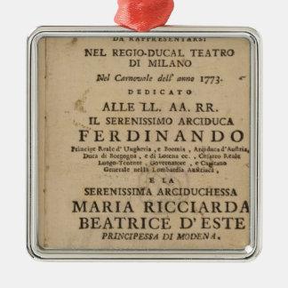 Frontispiece Lucio Silla de Mozart de ' Ornamento Para Arbol De Navidad