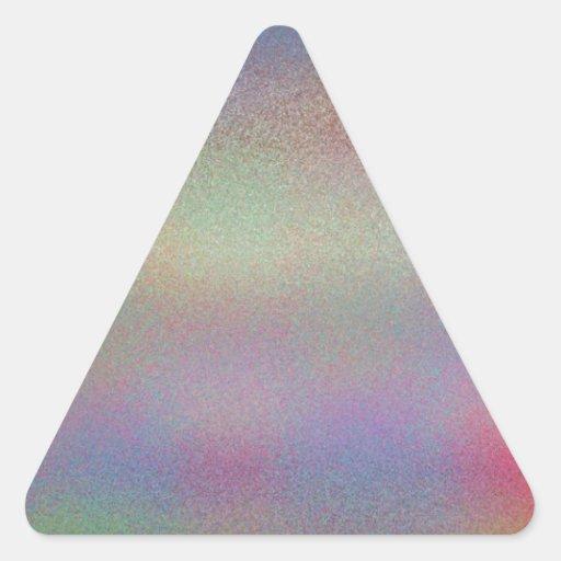 Frost reconstruido pegatina triangulo