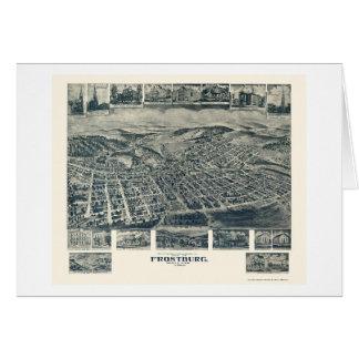 Frostburg, mapa panorámico del MD - 1905 Felicitacion